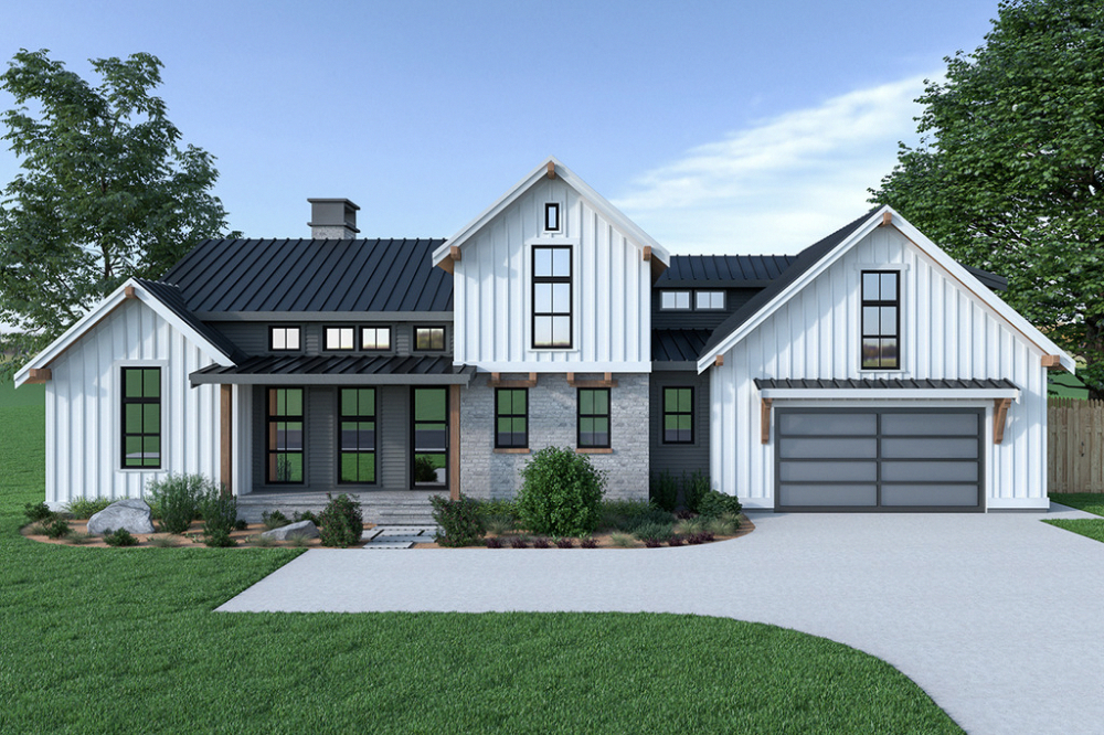 Country Style House Plan - 3 Beds 2.5 Baths 2013 Sq/Ft Plan #1070-33 - BuilderHousePlans.com #dwell #design #designhome #homeplan #houseplan #home #house #residence #architect #architecture #floorplan #newhome #newhouse #foreverhome #countryhome