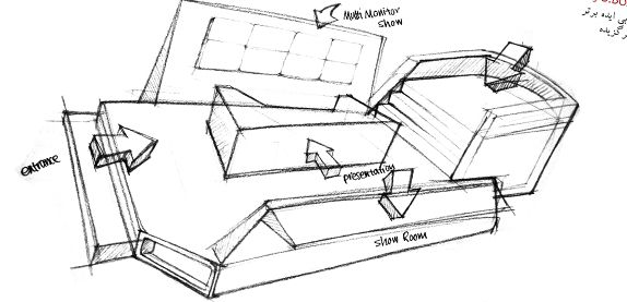 Exhibition Stall Sketch : Exhibition booth design sketching mine