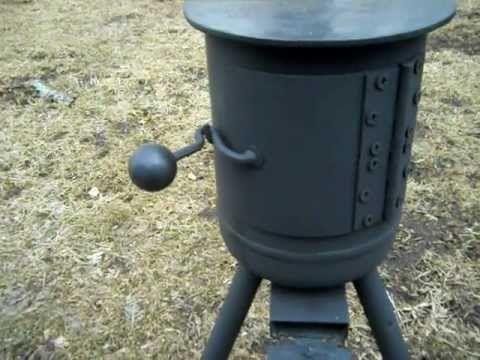 Homemade Mini Potbelly Woodstove Youtube Metal Working