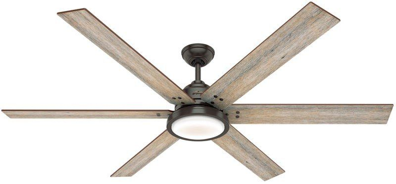 Hunter 59397 Warrant 70 High Airflow Ceiling Fan With Led Light Wall Control Noble Bronze In 2020 Ceiling Fan Farmhouse Style Ceiling Fan Large Ceiling Fans