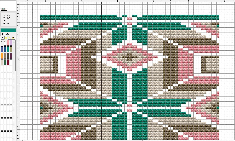 Patroon Mochila bruin/groen #chart | mochila bags and tapestry ...