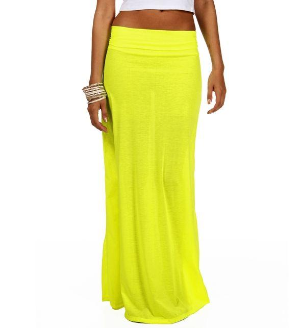 promoneon yellow maxi skirt �� dress to impress