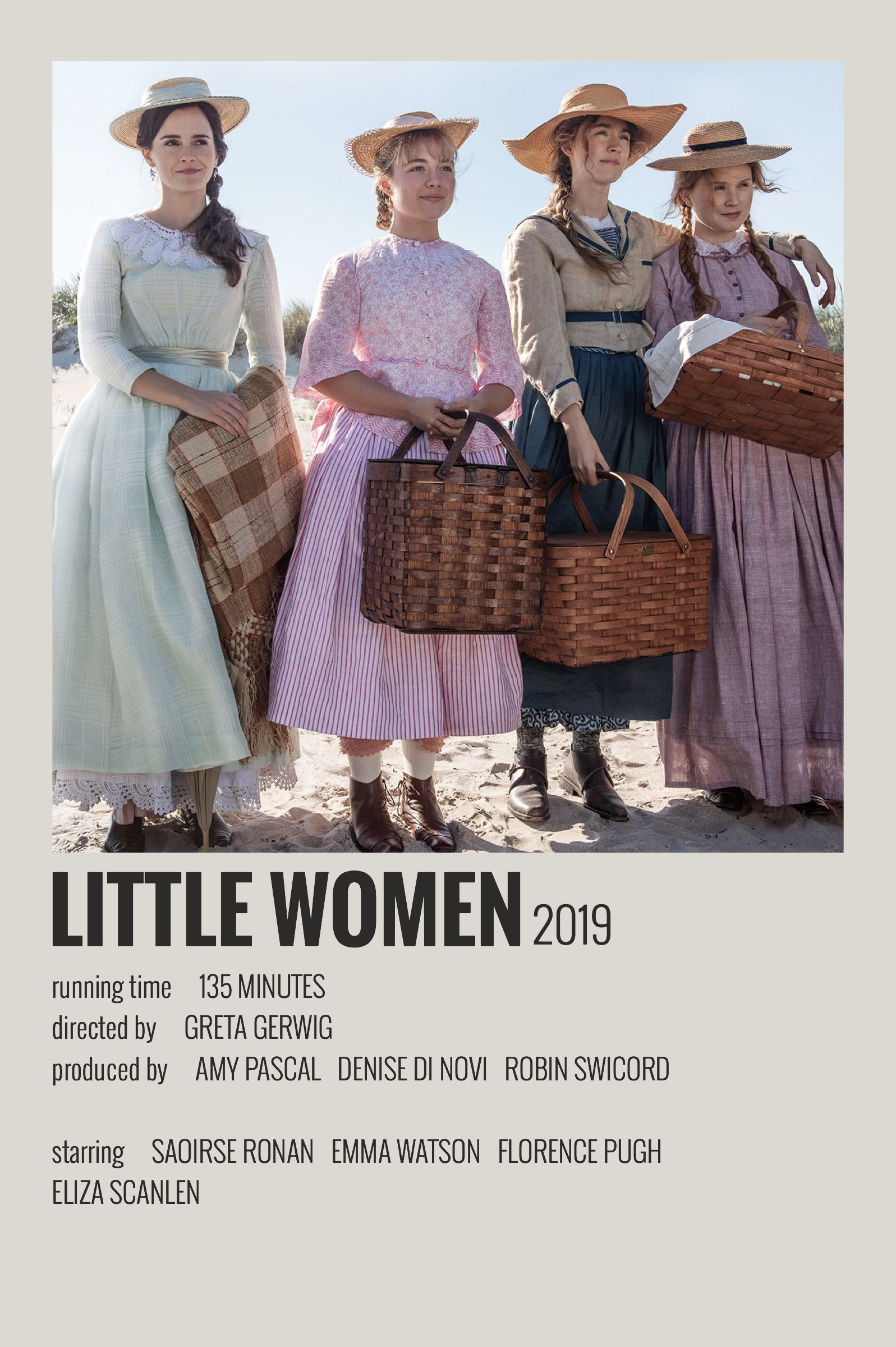Alternative Minimalist Movie/Show Polaroid Poster - Little Women