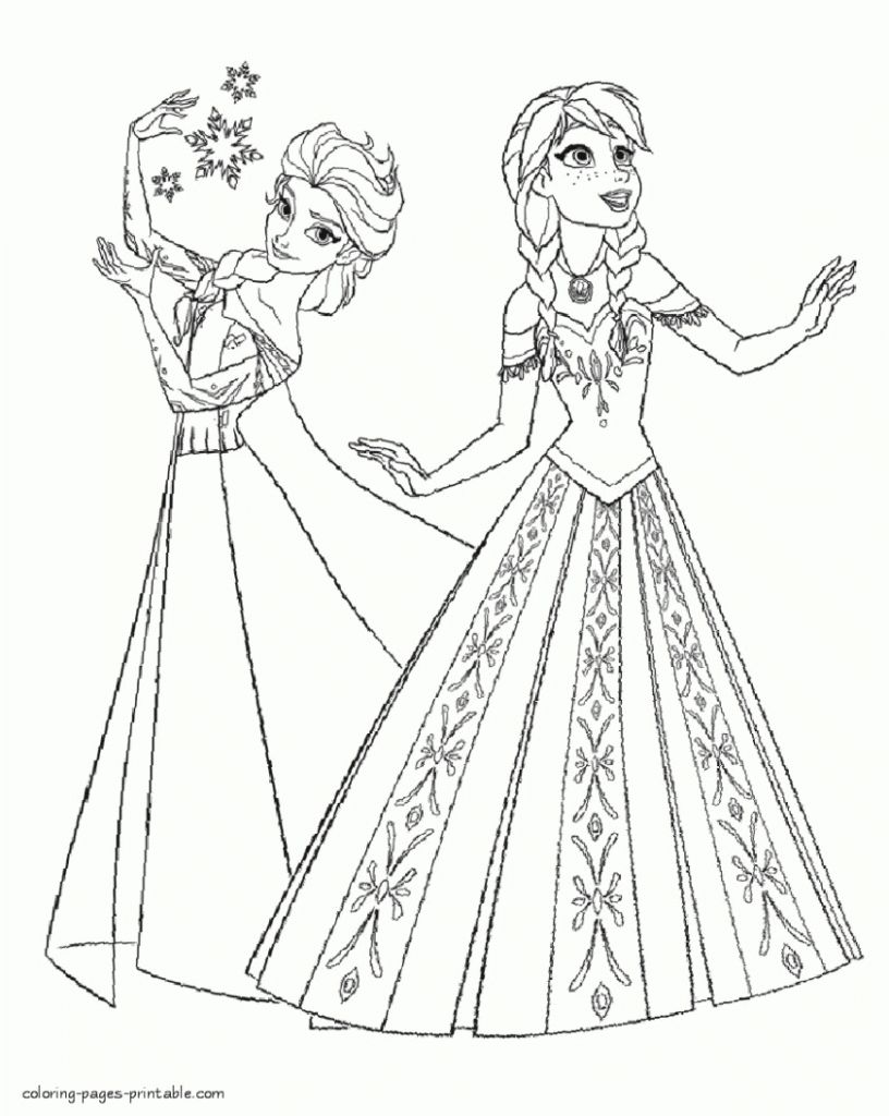Elsa Anna Coloring Page Elsa And Anna Coloring Pages Games Elsa And Anna Coloring Pages Online Els Elsa Coloring Pages Frozen Coloring Frozen Coloring Pages