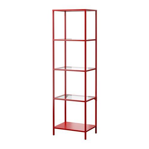 VITTSJÖ Shelf unit IKEA Tempered glass and metal are durable ...