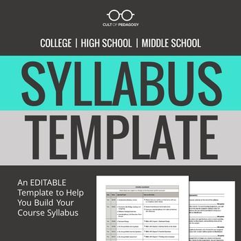 Syllabus Template Syllabus Editable Different Editable Syllabus
