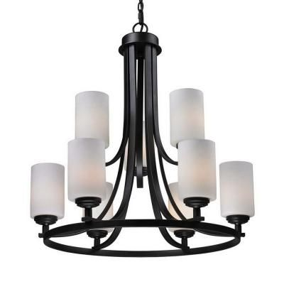 Tulen Lawrence 9-Light Oil Rubbed Bronze Incandescent Ceiling Chandelier-CLI-JB2006-9 - The Home Depot