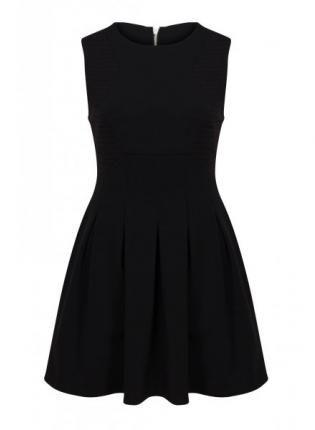 Little Black Heavyweight Skater Dress #LBD #skaterdress #sleeveless #heavyweight #ustrendy