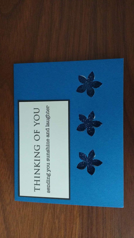 Blue Flower Congratulations by ArtByAdetta on Etsy