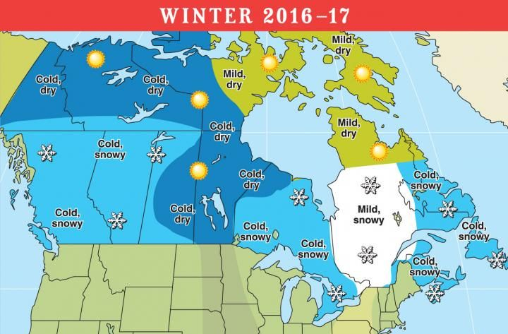2016-2017 Long-Range Weather Forecast for U.S. and Canada | Long ...