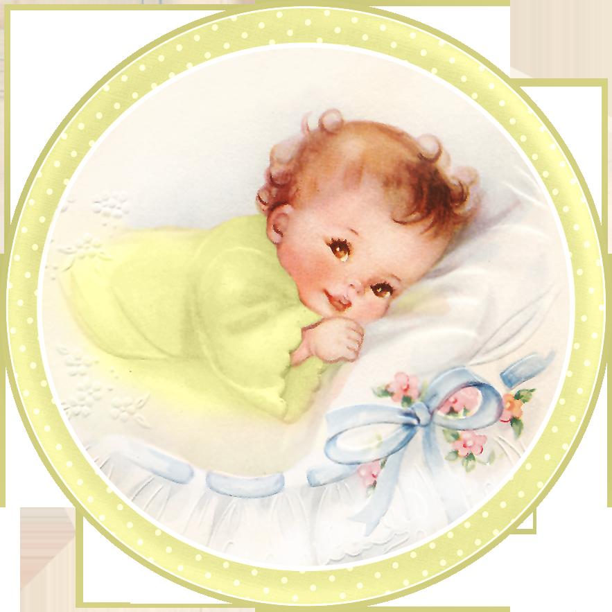 Dulces Bebés en Almohada, para Tarjetas, Toppers o Etiquetas. Para ...
