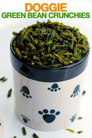 Doggie Green Bean Crunchies Recipe Homemade Dog Biscuits