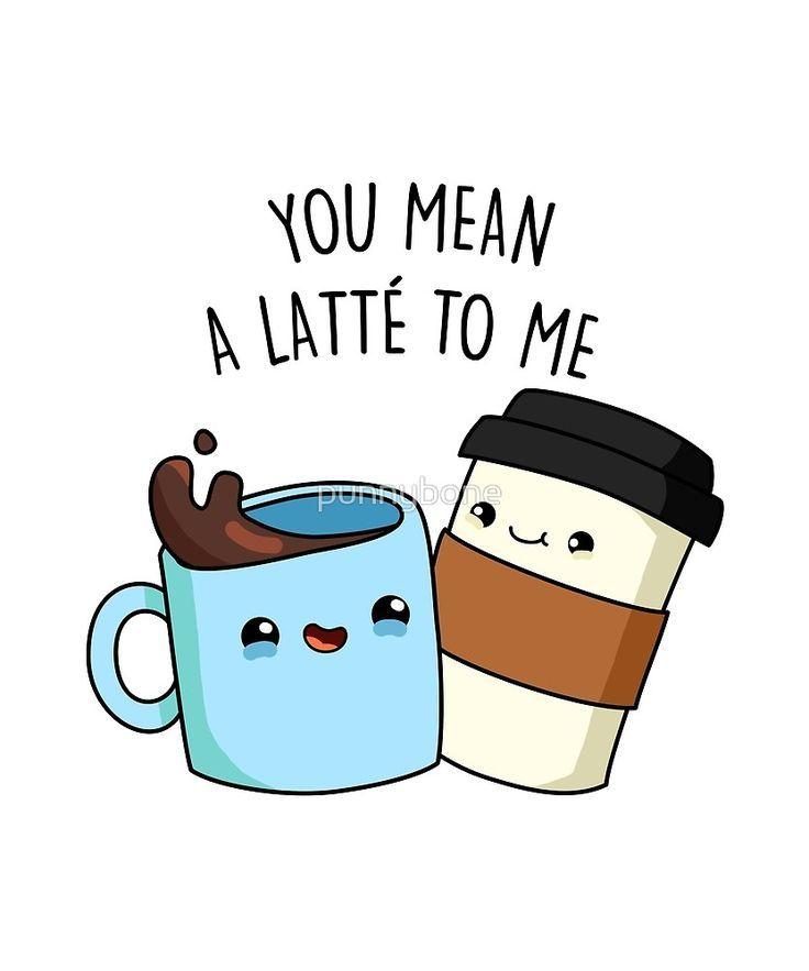 Mean A Latte Coffee Food Pun Sticker