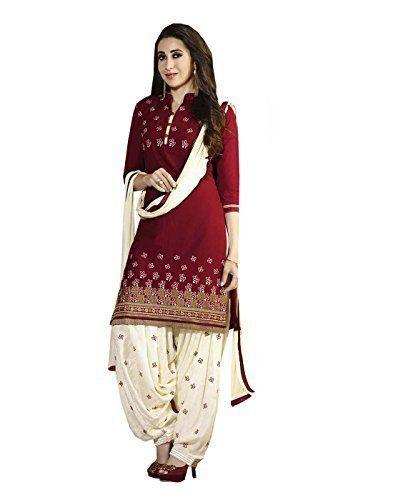 450cda6670b PSD Ready Made Patiala Salwar Embroidered Cotton Salwar Kameez Suit India Pakistani  Dress OF