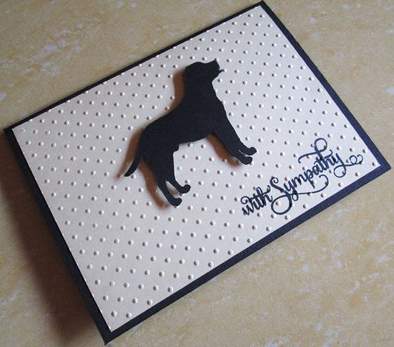 Hond Sympathy Card Labrador huisdier Sympathy door DreamsByTheRiver