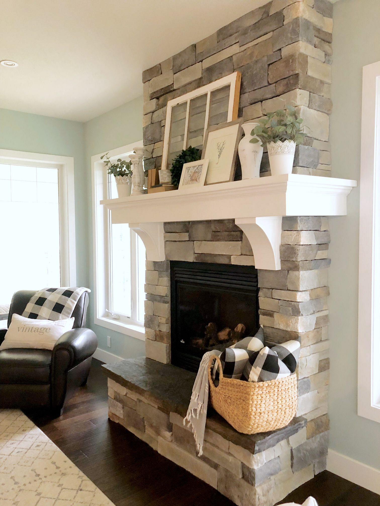 10 beautiful farmhouse fireplace mantel decorations that