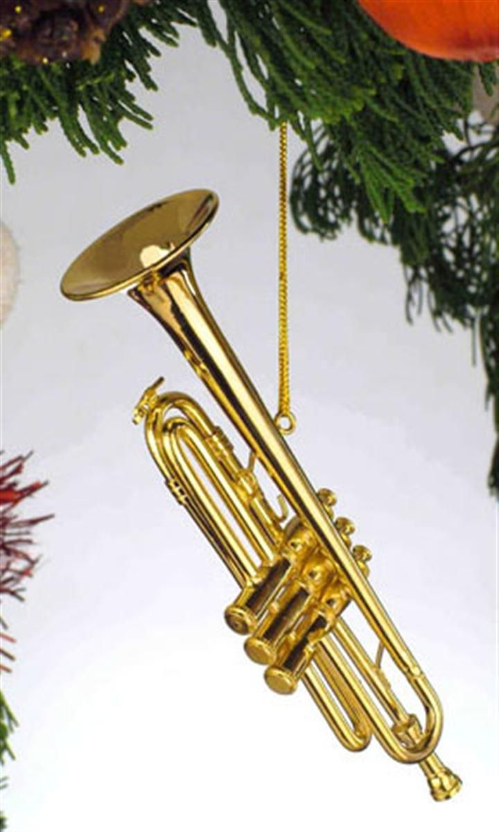 Musical christmas ornaments that play music - Buy Trumpet Ornament Personalized Christmas Gifts Decorations By Russell Rhodes Offering Exclusive Personalized Christmas Ornaments