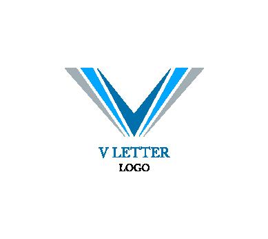 Pin By Vivian On Letter V Vector Logo Design Logo Design Letter Logo