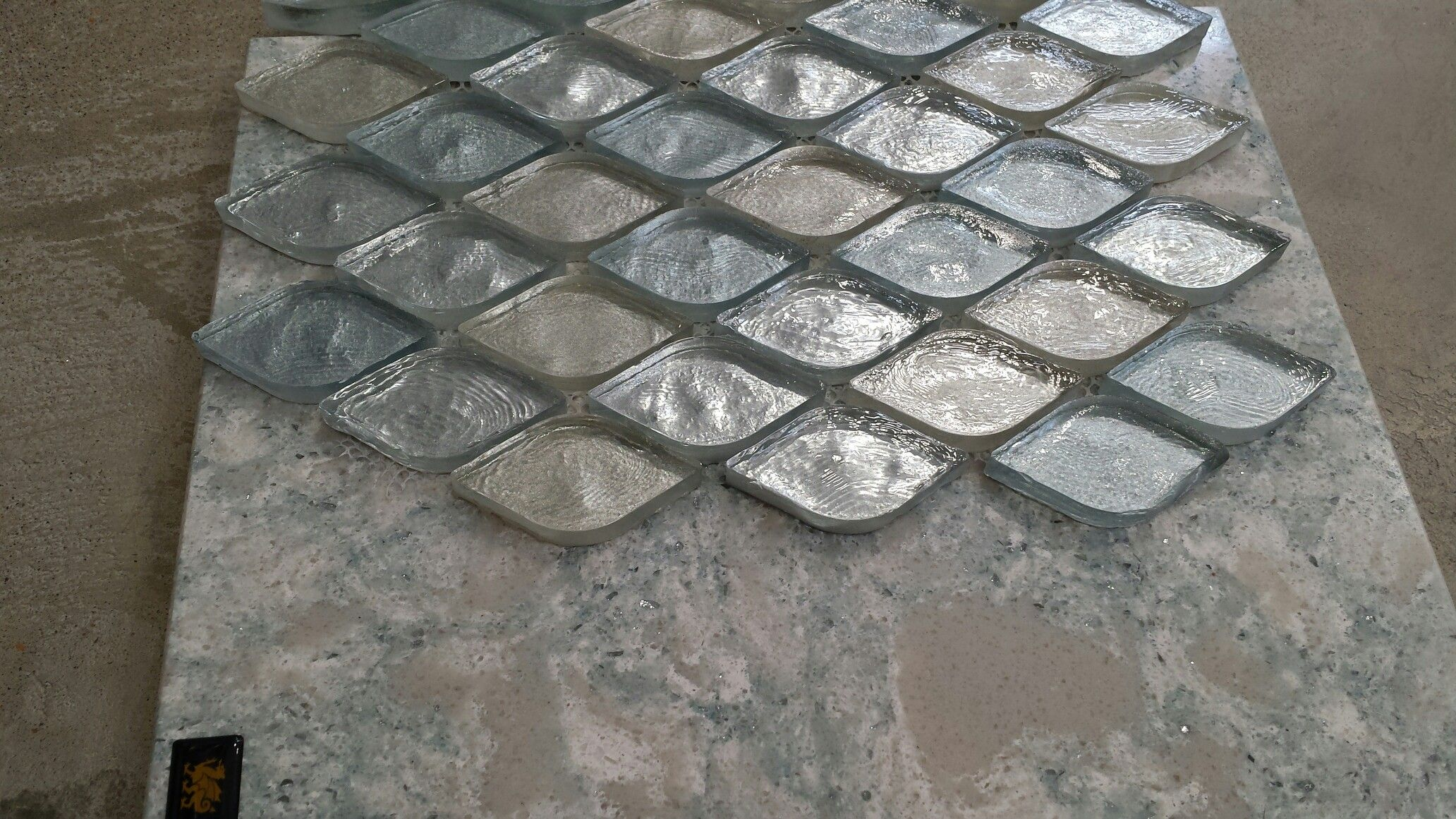 - Tile - Monaco Celeste Glass (like This) With Cambria Montgomery