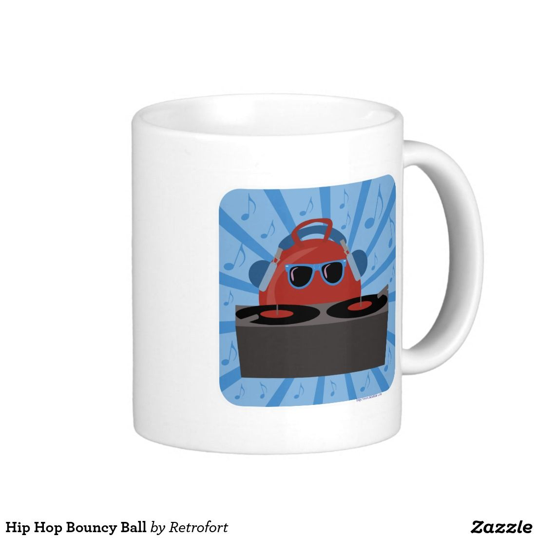 Hip Hop Bouncy Ball Classic White Coffee Mug