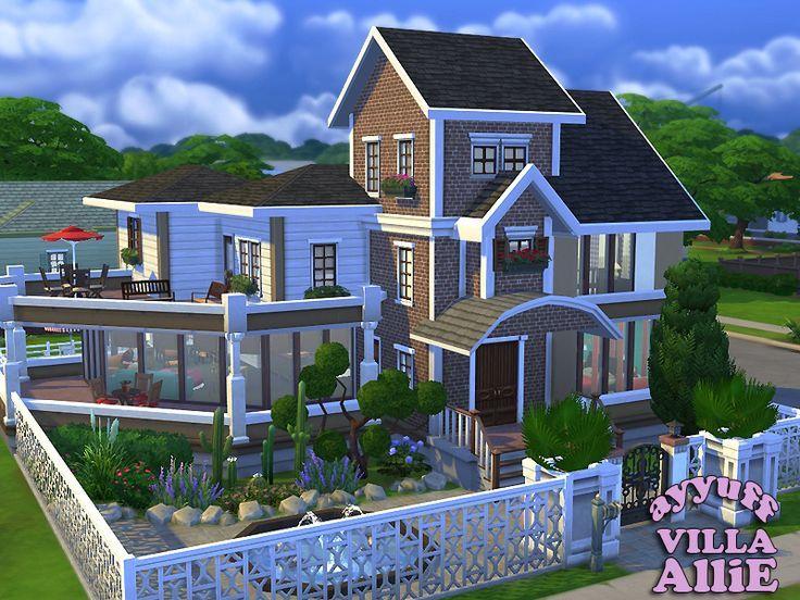 Sims 4, Landhaus | Sims 4 | Pinterest | Landhäuser, Haus ideen und ...