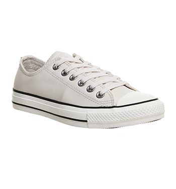 From Office All White Low Parchment Star Black Converse Leather Pxtn8q