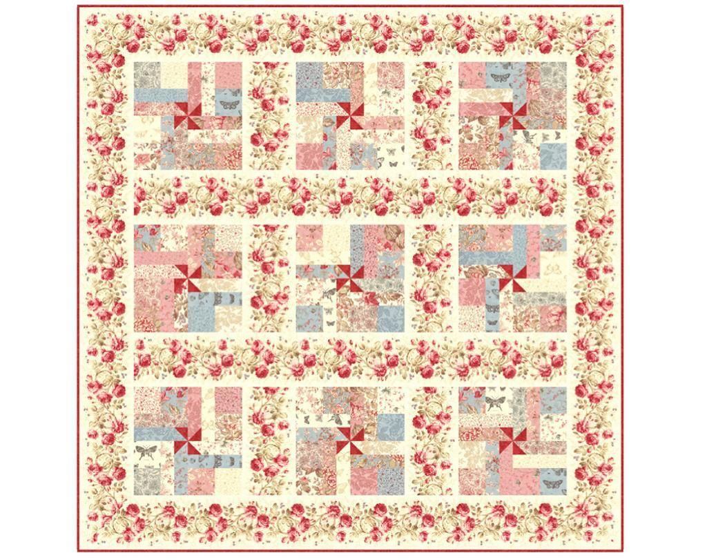 (7) Name: 'Quilting : 'Breathless' PDF Quilt Pattern