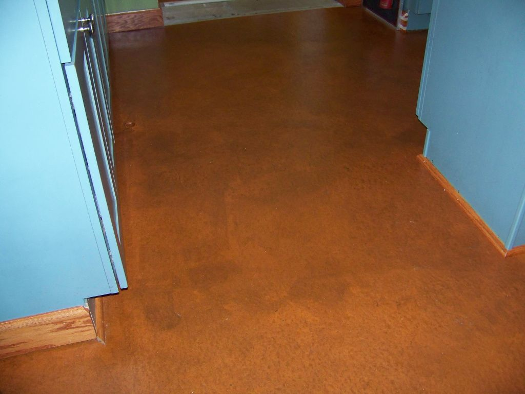 Finished floor near pantry flooring diy concrete stain