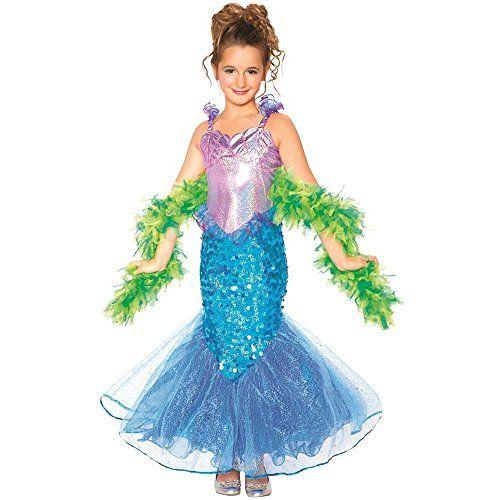 Big Girls\u0027 Mermaid Costume Size 8/10 Loftus Novelty   www - green dress halloween costume ideas