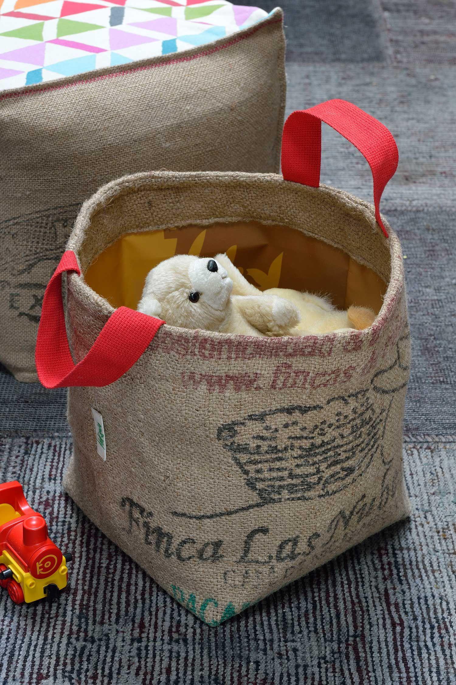 Pani re lilokawa en toile de jute de sacs de caf recycl s for Toile de jute castorama