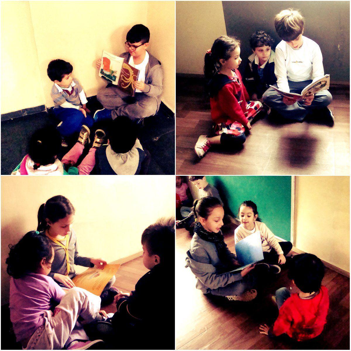 Criança lendo para criança: uma boa forma de estimular a leitura