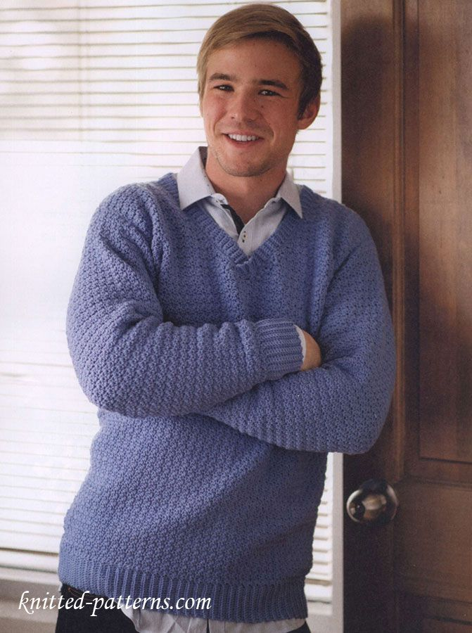 Men\'s v-neck sweater free crochet pattern: modèle enregistré dans ...
