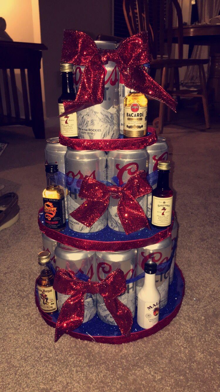 Beer birthday cake for my boyfriends 21st beer birthday