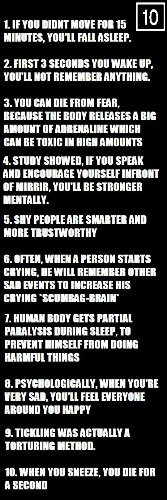 Things About Your Body