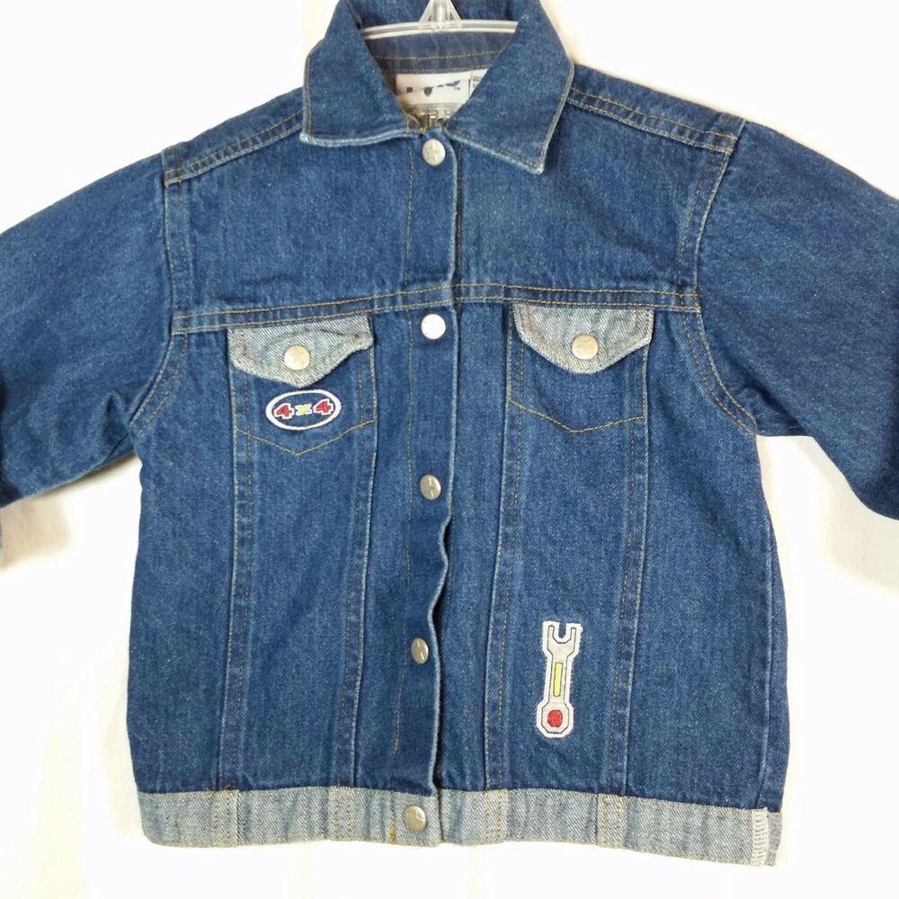 Kiks Denim Jean Jacket Boys 24 Months Embroidered 4 X 4 Truck Outerwear Kiks Jeanjacket Everyday Cute Jean Jackets Denim Jean Jacket Womens Denim Vest [ 1000 x 1000 Pixel ]