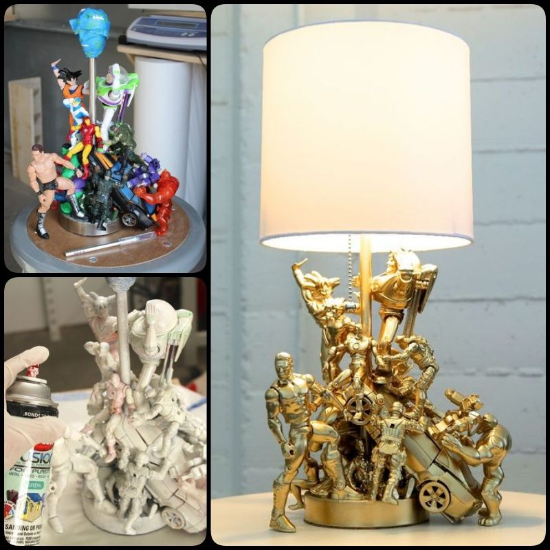 Photo of DIY Epic Lamp made with Old Toys