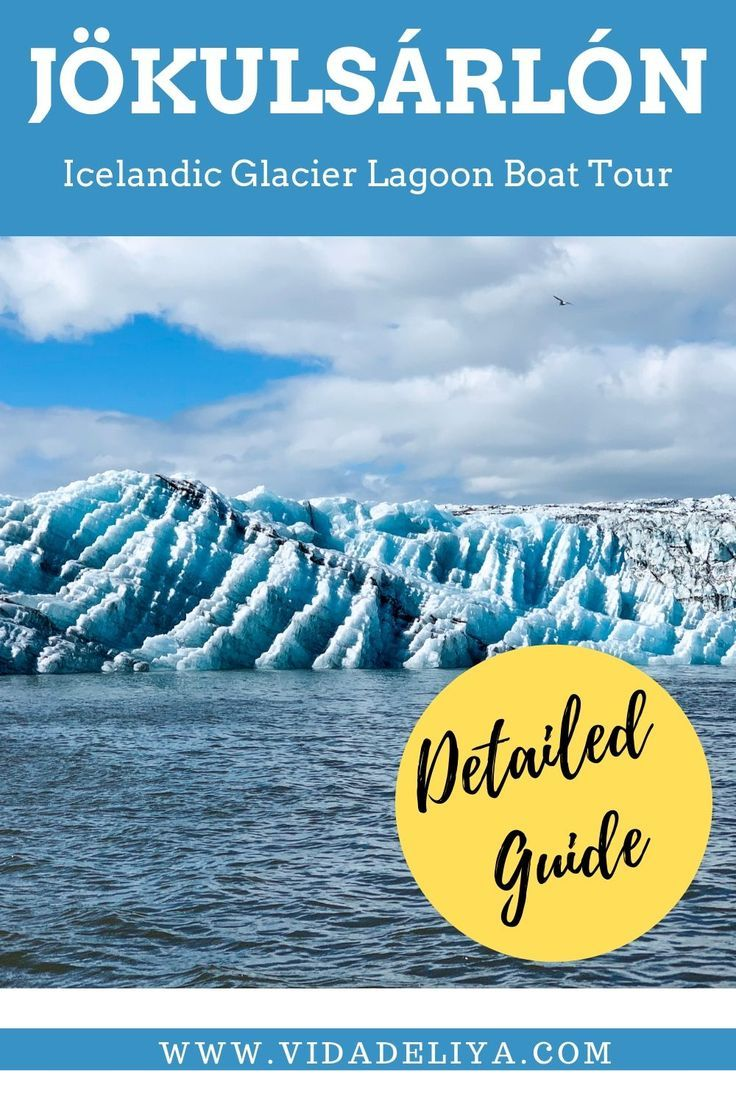 Detailed travel guide to Iceland's largest glacier lagoon, Jökulsárlón Glacier Lagoon. Learn why you should pick the zodiac boat ride over the amphibian. Photos of icebergs, travel tips & recommendations available. #iceland #glaciallagoon