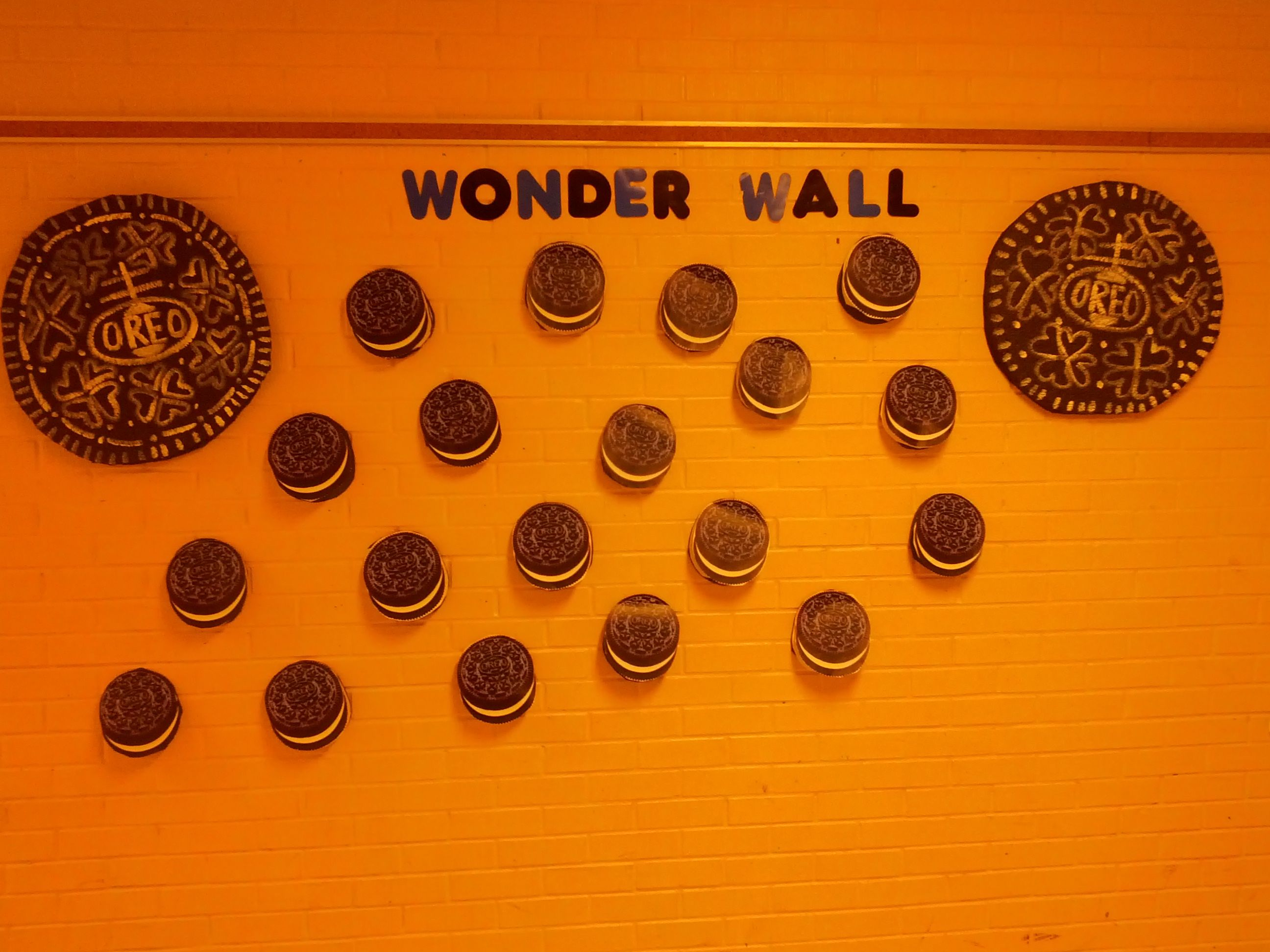 Wonder Oose Kind Our Oreo Wonder Wall With Students