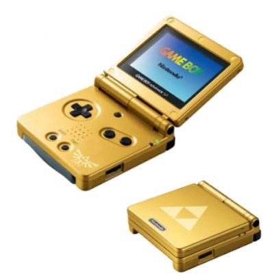 Nintendo Game Boy Advance Sp The Legend Of Zelda Edition With Minish Cap Video Game Console Gameboy Game Boy Advance Sp