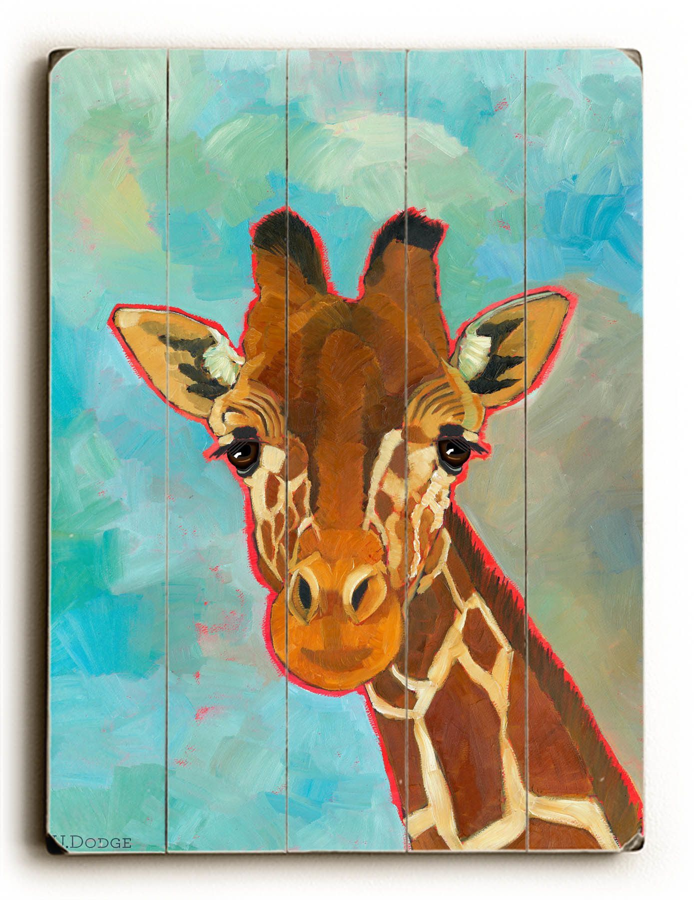 Set 2 Set of Three A4 size Signed GIRAFFE Prints by Maria Moss