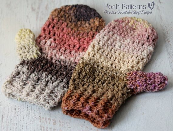 This Easy Crochet Mittens Pattern Makes A Simple And Elegant Pair Of