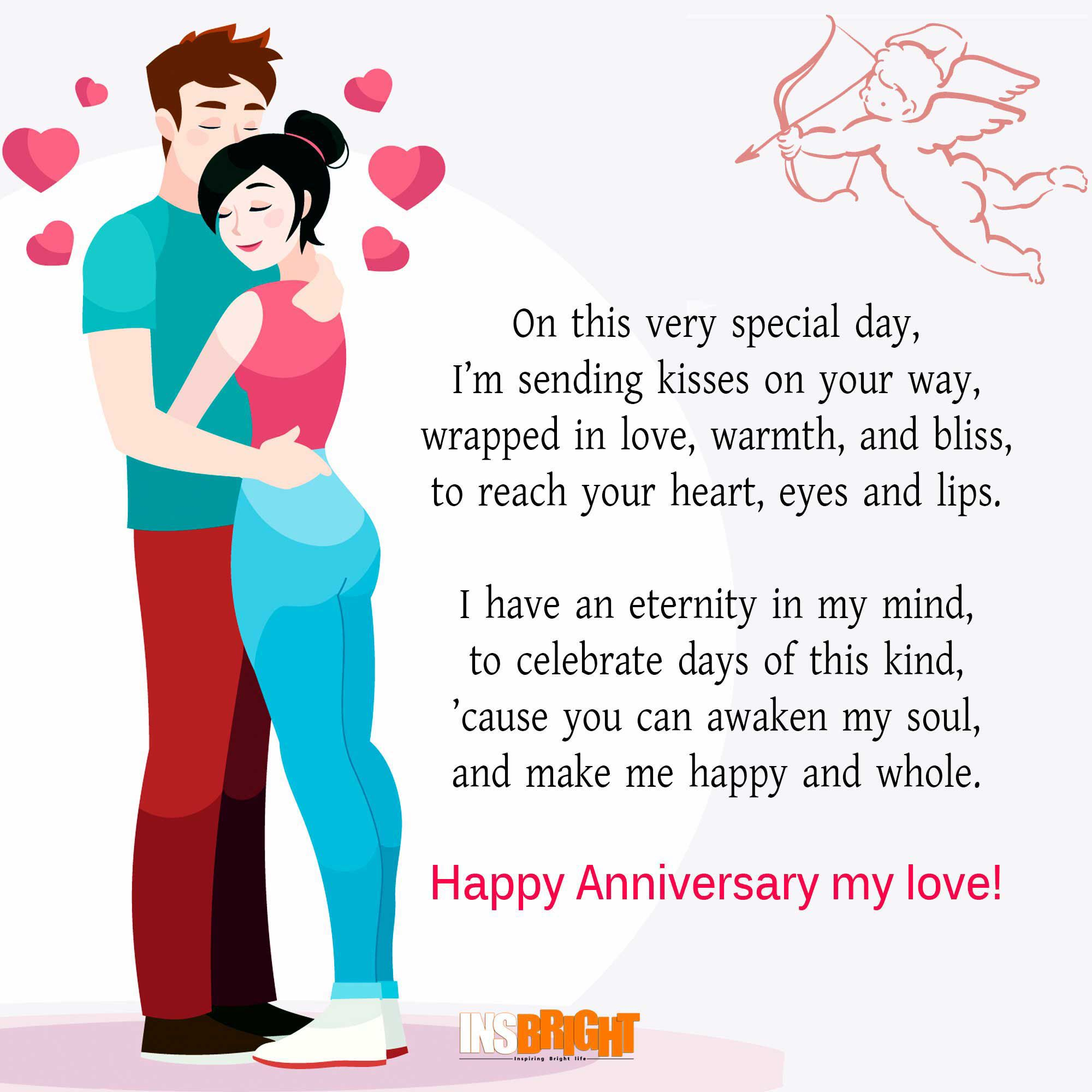 Cute Happy Anniversary Poems For Him or Her With Images