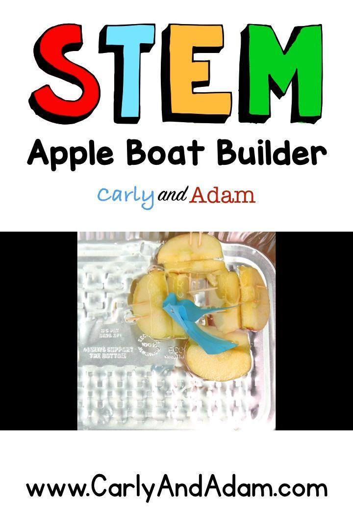 Apple Boat Builder Fall Autumn STEM Activity #stemactivitieselementary