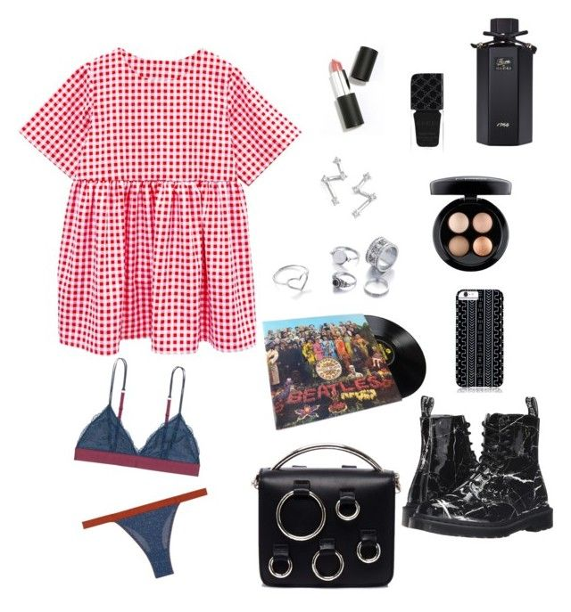 """Untitled #316"" by n-abagnale on Polyvore featuring LoveStories, Dr. Martens, MSGM, Savannah Hayes, Jordan Askill, Dana Rebecca Designs, Gucci, MAC Cosmetics and Sigma Beauty"