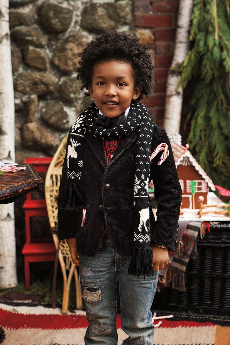 54710a8ea Festive accessories for Ralph Lauren Kids: adorable scarves crafted from a  soft cotton blend.