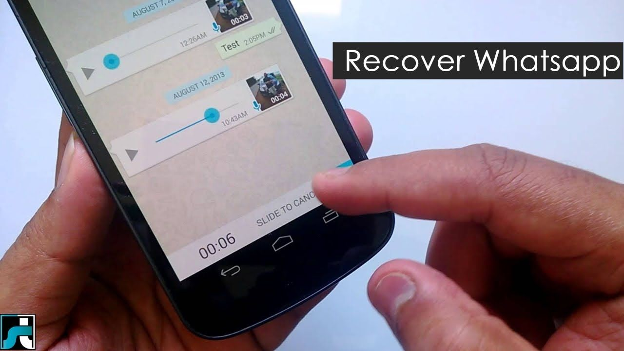 How To Recover Deleted Whatsapp Messages (Working