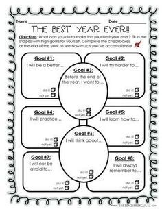 New Year, New Goals - New School Year & Goal Setting Activities ...
