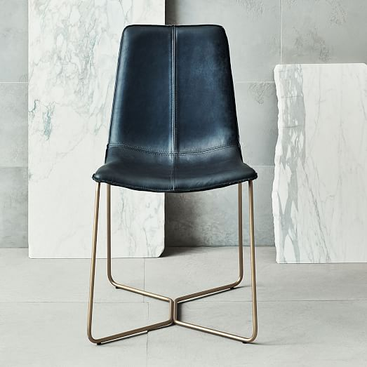 Slope Leather Dining Chair With Images Leather Dining Chairs