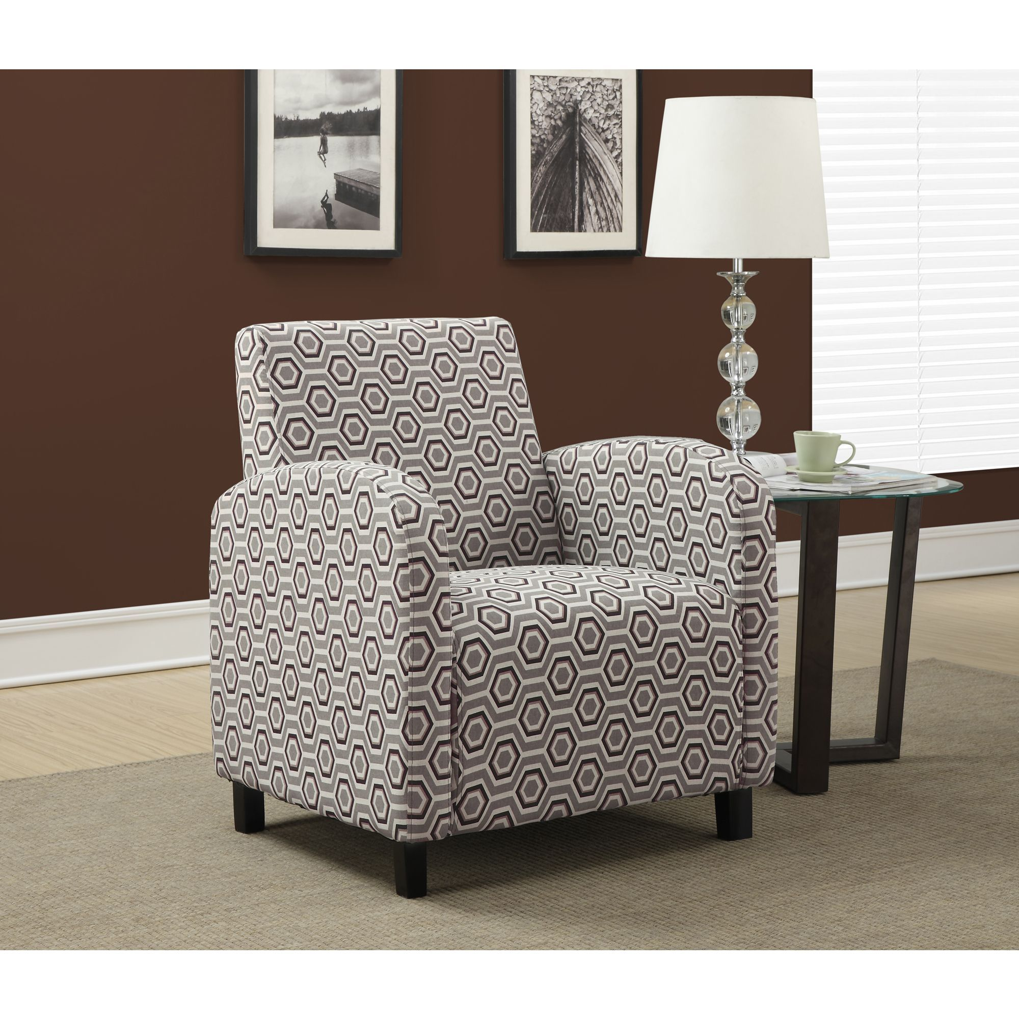 Relax In Style And Comfort With This Cozy Grey Accent Chair