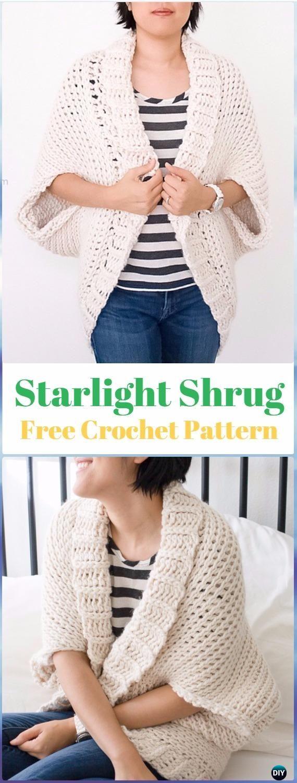 Crochet women shrug cardigan free patterns crochet shawl and crochet starlight shrug free pattern crochet women shrug cardigan free pattern bankloansurffo Gallery
